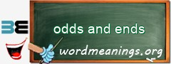 WordMeaning blackboard for odds and ends